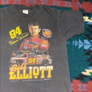 Vintage 1997 Bill Elliott McDonald's Racing Tee 🏁